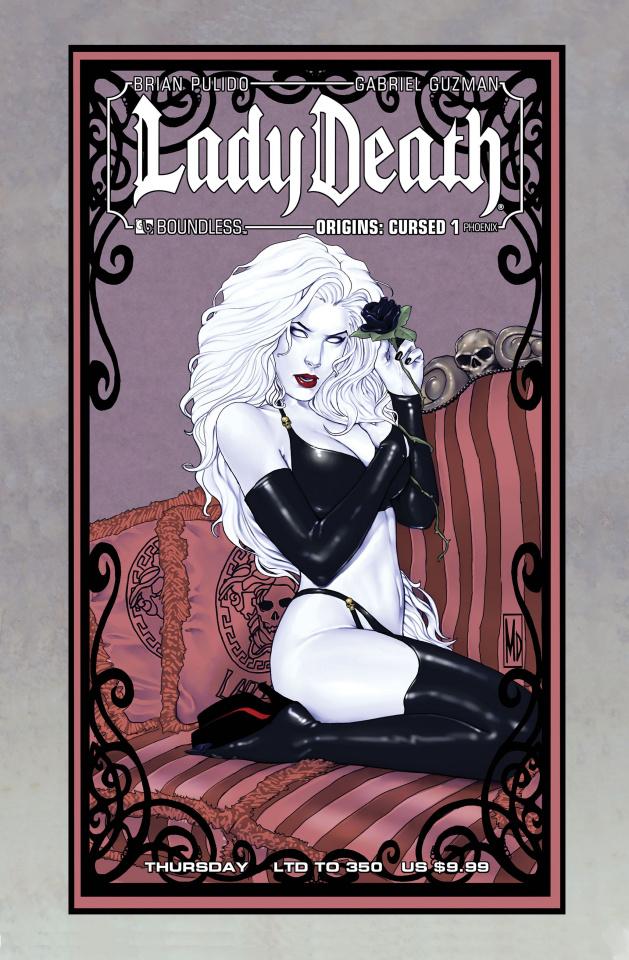 Lady Death Origins: Cursed #1 (Phoenix Thursday Civer)