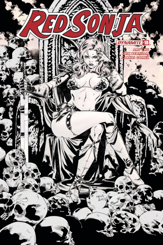 Red Sonja #18 (10 Copy Gomez B&W Cover)