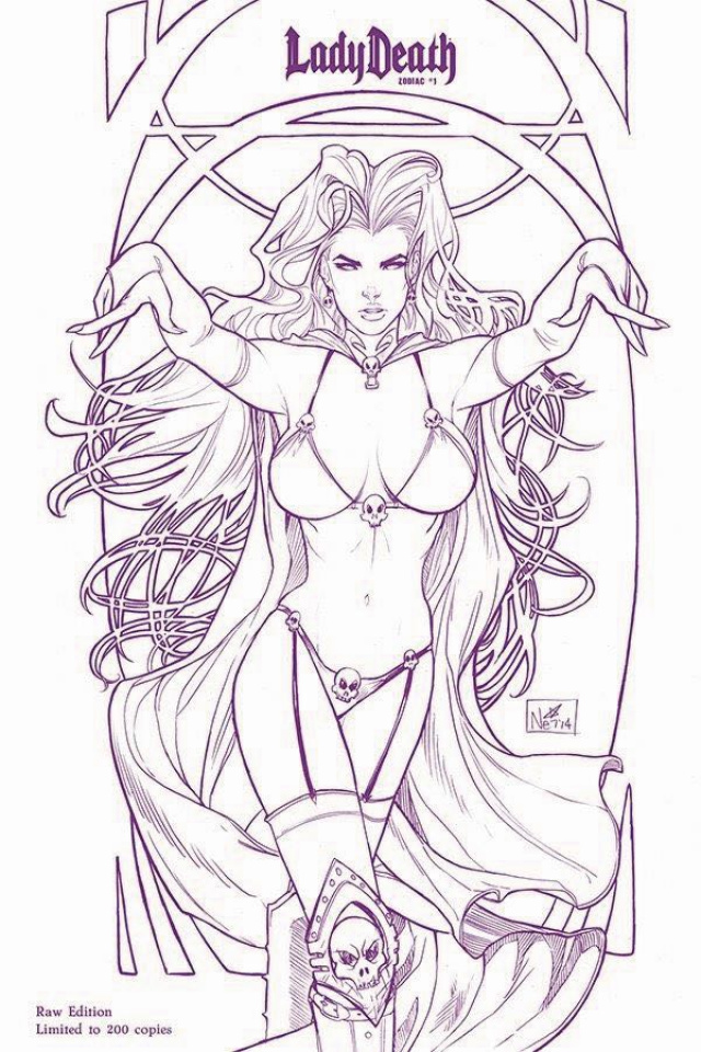 Lady Death: Zodiac #1 (Limited Signed Raw Cover)