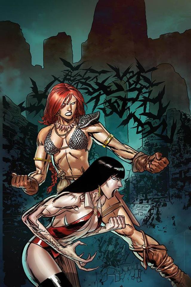 Vampirella / Red Sonja #9 (Gedeon Virgin Homage Cover)