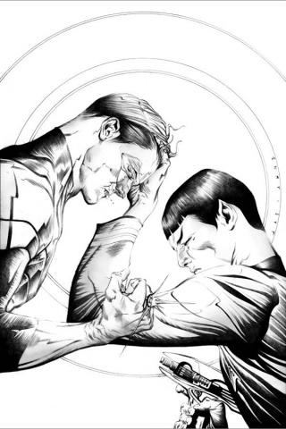 Star Trek / Green Lantern #1 (Lee B&W Cover)