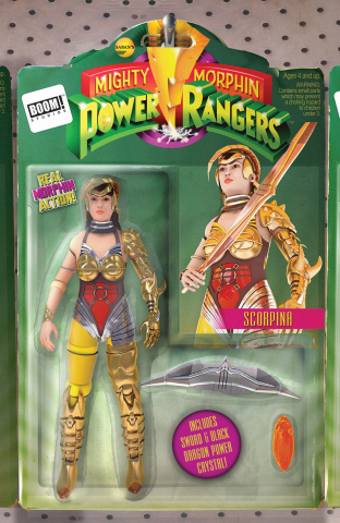 Mighty Morphin' Power Rangers #9 (Unlock Action Figure Cover)