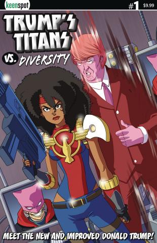 Trump's Titans vs. Diversity #1 (New Donald Cover)