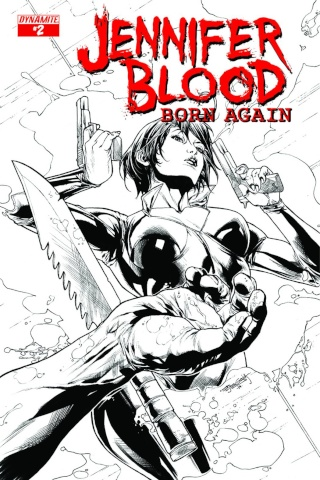 Jennifer Blood: Born Again #2 (10 Copy Segovia B&W Cover)
