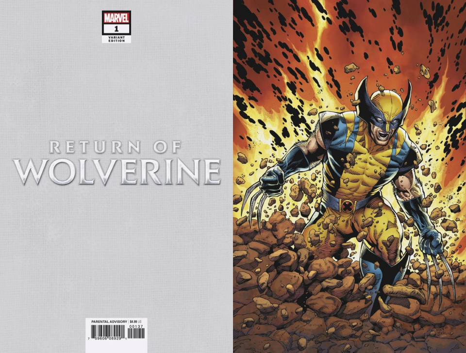 Return of Wolverine #1 (McNiven Current Costume Virgin Cover)