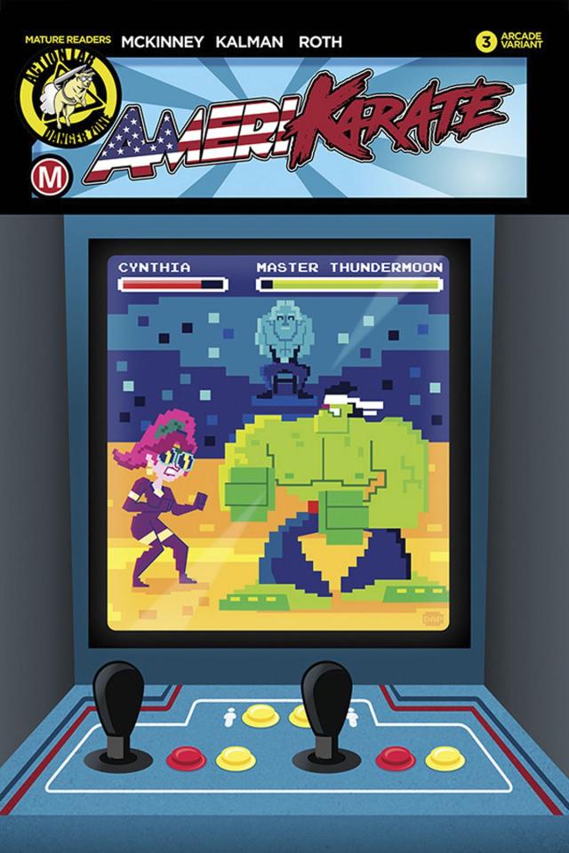 Amerikarate #3 (Perillo 16-Bit Cover)