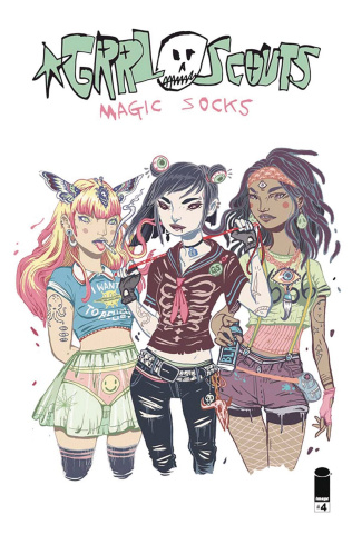 Grrl Scouts: Magic Socks #4 (Ys Cover)