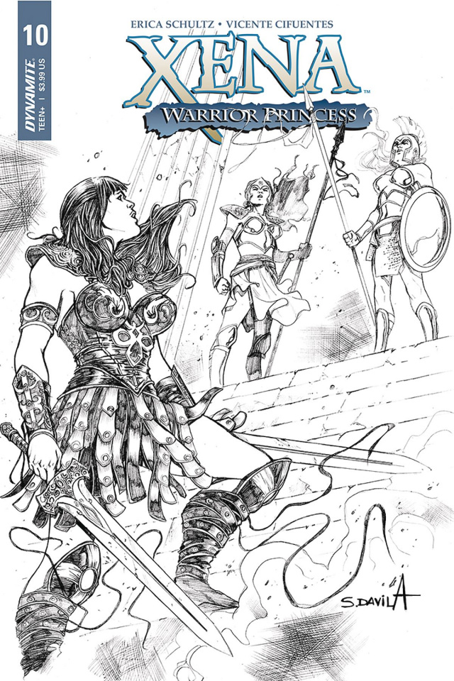 Xena #10 (25 Copy Davila B&W Cover)