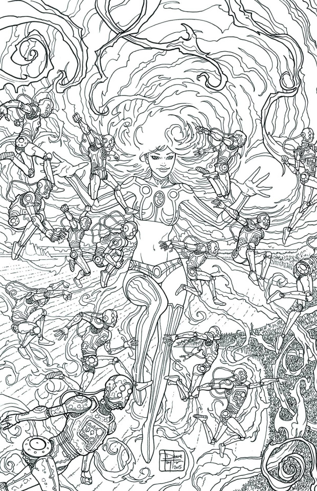 Starfire #8 (Adult Coloring Book Cover)