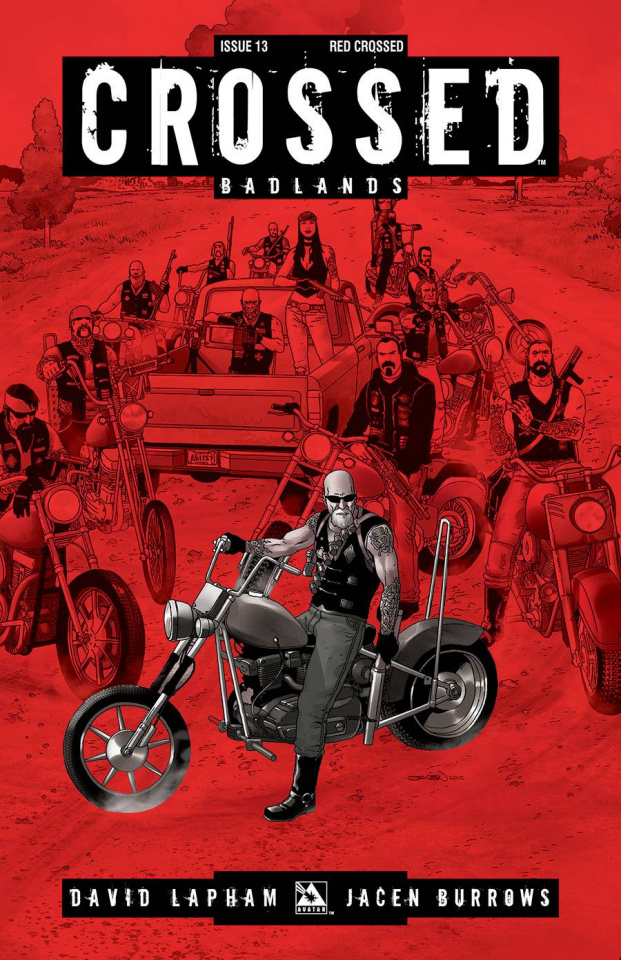 Crossed: Badlands #13 (Red Crossed Cover)