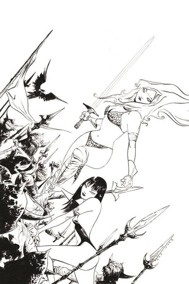Vampirella / Red Sonja #11 (25 Copy Lee B&W Virgin Cover)