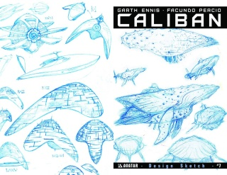 Caliban #7 (Design Sketch Cover)