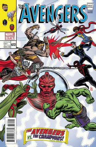 Avengers #672 (2nd Printing Allred Cover)