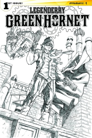 Legenderry: Green Hornet #1 (25 Copy Davila B&W Cover)