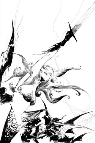 Vampirella / Red Sonja #8 (25 Copy Lee B&W Virgin Cover)