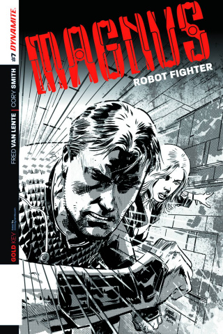 Magnus, Robot Fighter #7 (10 Copy Hardman B&W Cover)