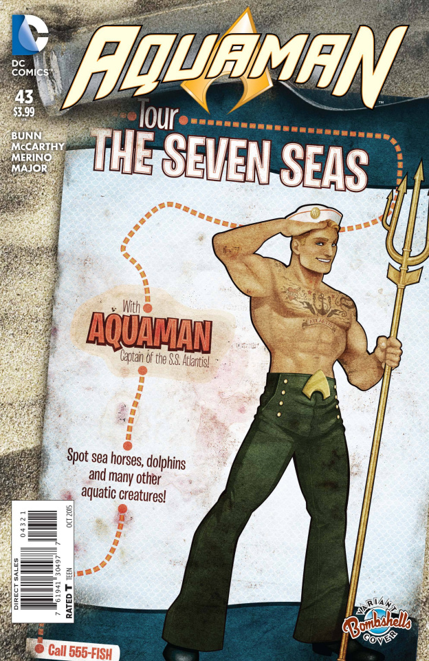 Aquaman #43 (Bombshells Cover)