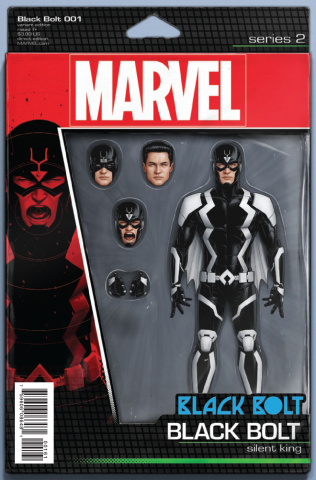 Black Bolt #1 (Christopher Action Figure Cover)