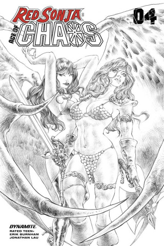 Red Sonja: Age of Chaos #4 (7 Copy Quah Sketch Cover)
