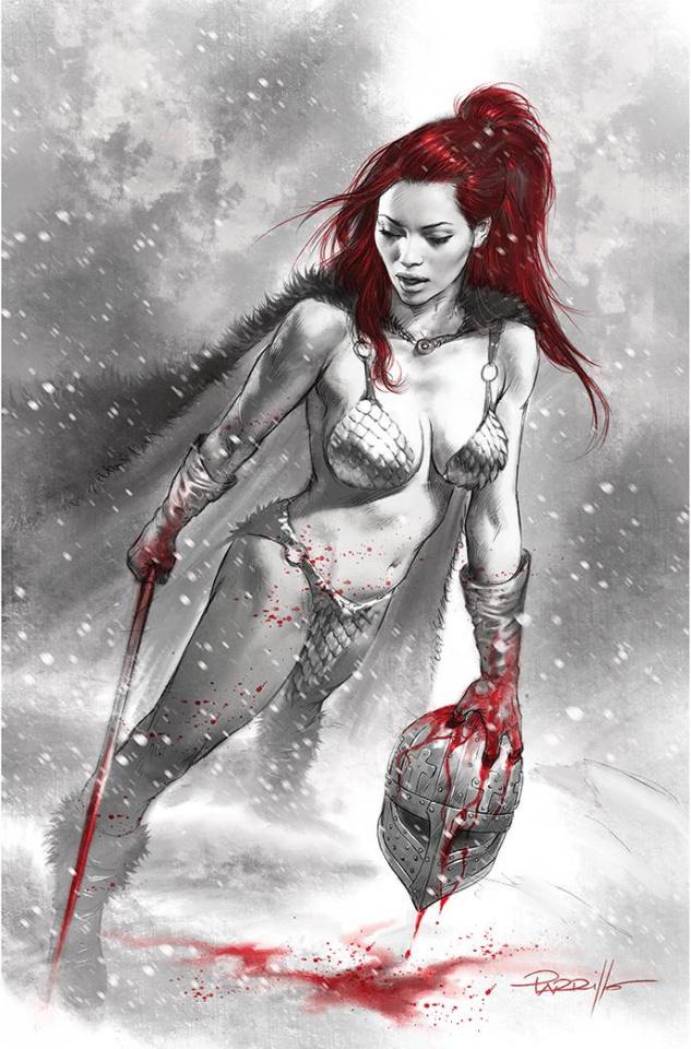 Red Sonja: Black, White, Red #3 (Parrillo Virgin Cover)