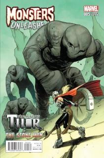 Monsters Unleashed! #5 (Pichelli Monster vs. Marvel Hero Cover)
