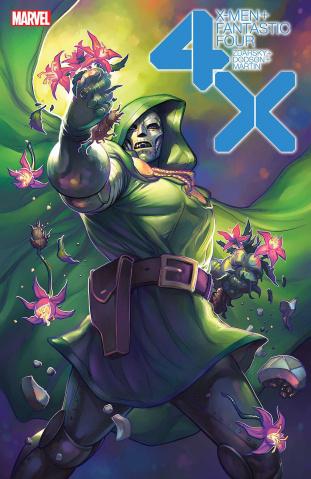 X-Men + Fantastic Four #2 (Hetrick Flower Cover)