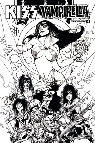 KISS / Vampirella #2 (25 Copy Castro B&W Cover)