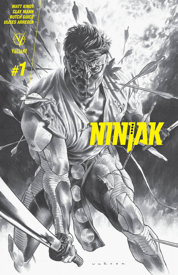 Ninjak #1 (60 Copy B&W Larosa Cover)