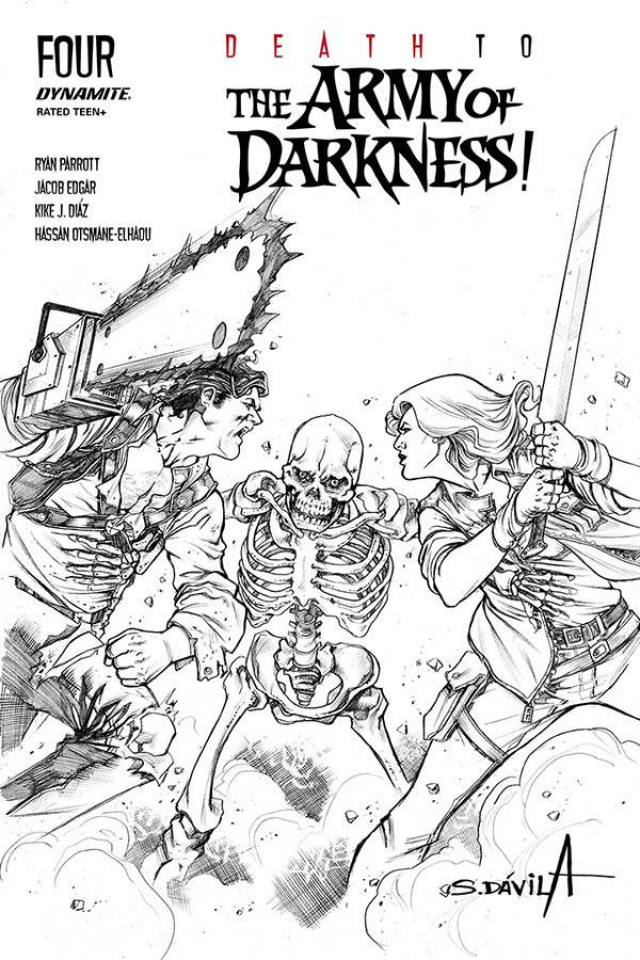 Death to the Army of Darkness #4 (25 Copy Davila B&W Cover)