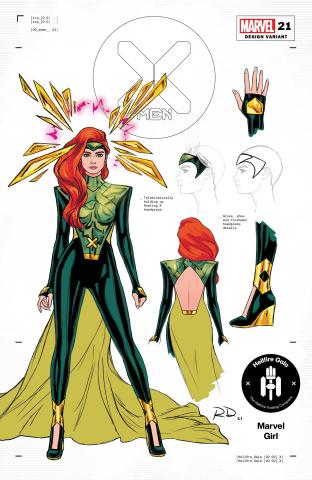 X-Men #21 (Dauterman Jean Grey Design Cover)