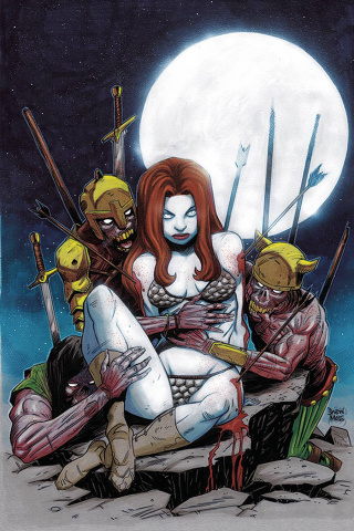 Red Sonja #23 (10 Copy Moss Zombie Virgin Cover)