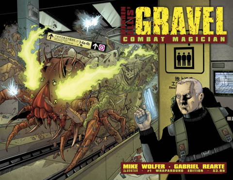 Gravel: Combat Magician #1 (Wrap Cover)