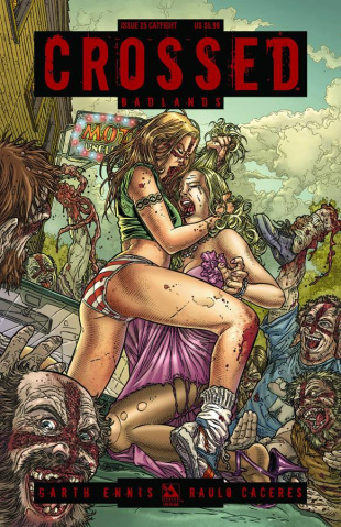 Crossed: Badlands #25 (Catfight Cover)