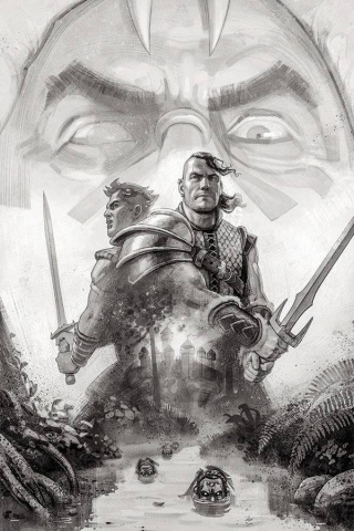 The Cimmerian: Beyond the Black River #1 (40 Copy Tessier B&W Cover)