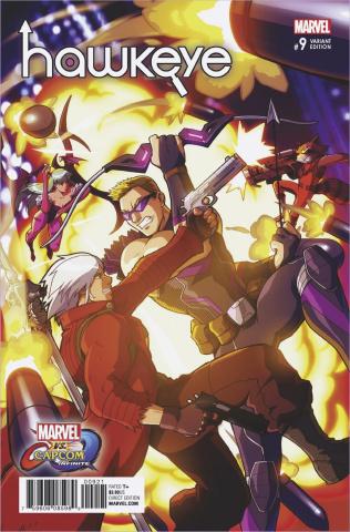 Hawkeye #9 (Porter Marvel vs. Capcom Cover)