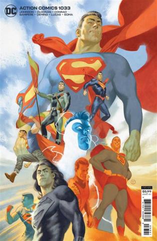 Action Comics #1033 (Julian Totino Tedesco Card Stock Cover)