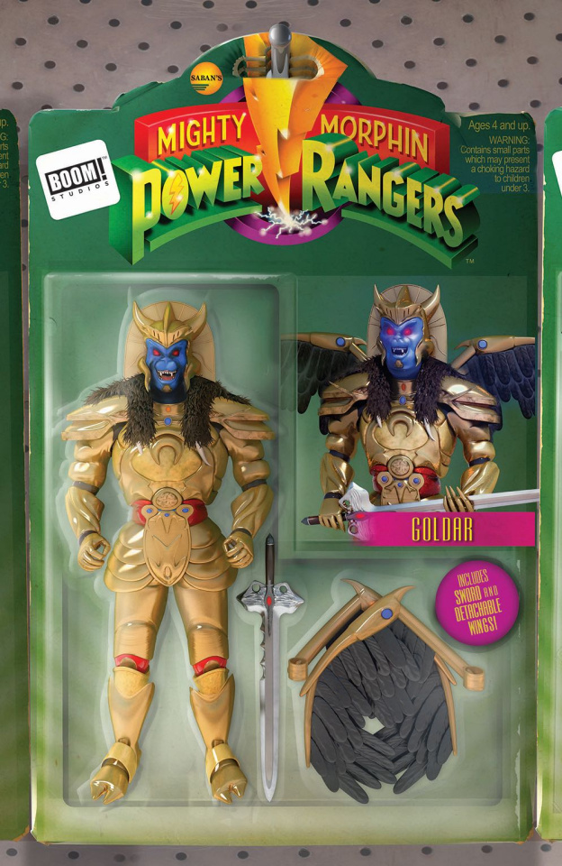 Mighty Morphin' Power Rangers #12 (Unlock Action Figure Cover)