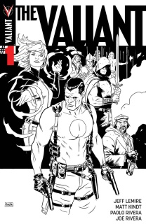 The Valiant #1 (100 Copy B&W Rivera Cover)