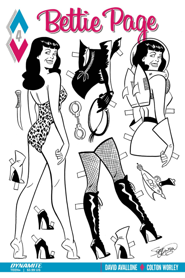 Bettie Page #4 (10 Copy Chantler B&W Cover)