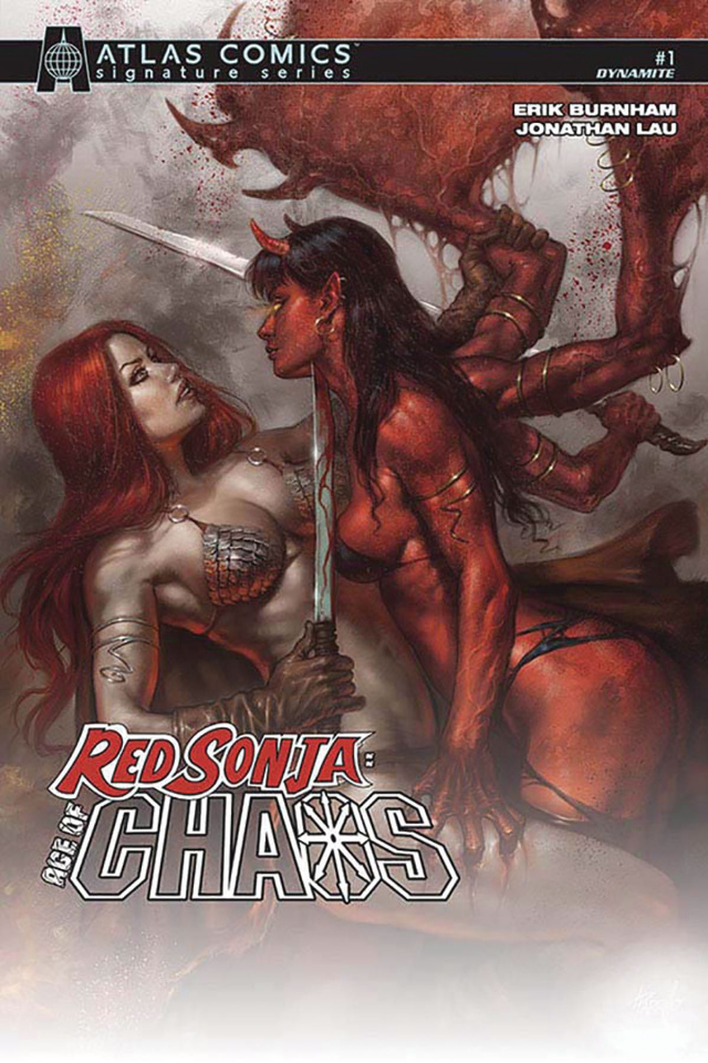 Red Sonja: Age of Chaos #1 (Burnham Signed Atlas Edition)