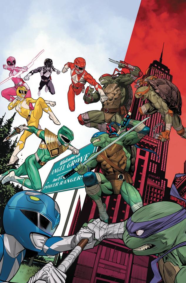 Power Rangers / Teenage Mutant Ninja Turtles #2 (Mora Cover)