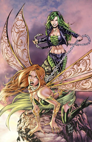 Grimm Fairy Tales: Neverland - Age of Darkness #4 (Cha Cover)