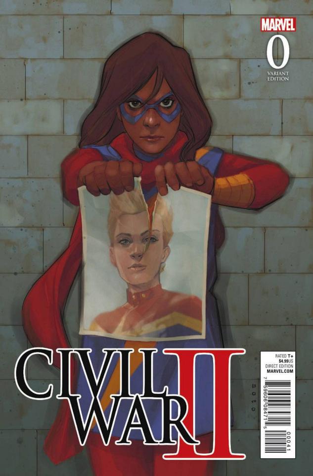 Civil War II #0 (Noto Kamala Cover)