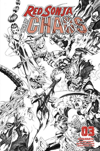 Red Sonja: Age of Chaos #3 (35 Copy Lau B&W Cover)