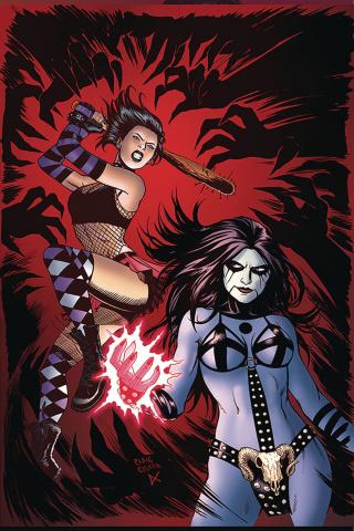 Hack/Slash vs. Chaos! #4 (30 Copy Cermak Virgin Cover)