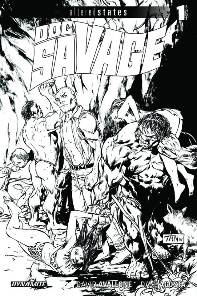 Altered States: Doc Savage #1 (10 Copy Tan B&W Cover)