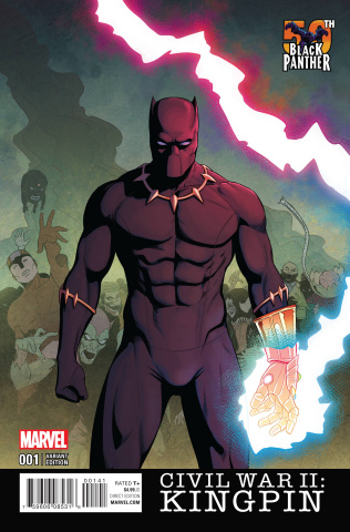 Civil War II: Kingpin #1 (Black Panther 50th Anniversary Cover)