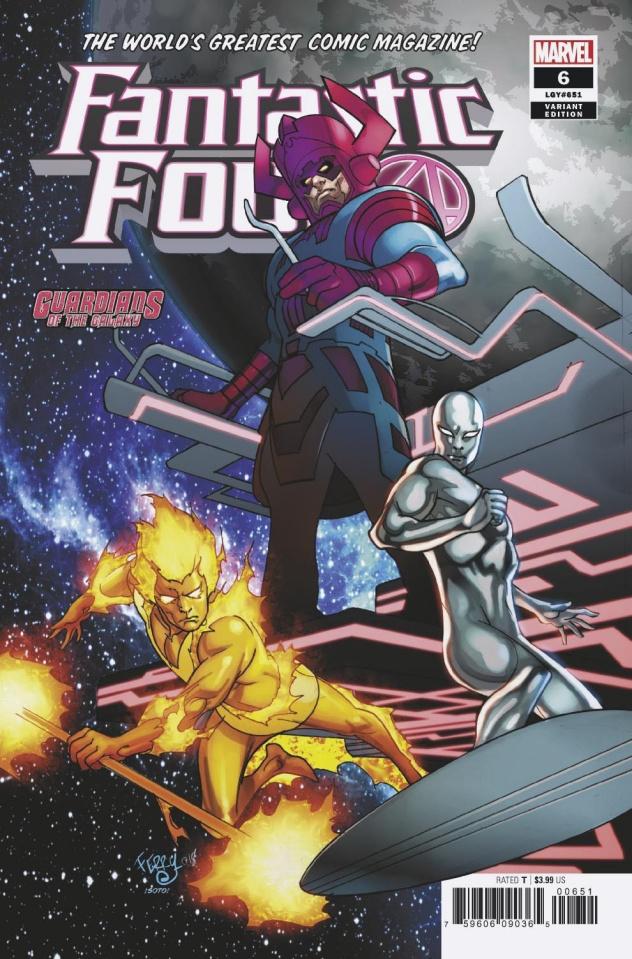 Fantastic Four #6 (Ferry GotG Cover)