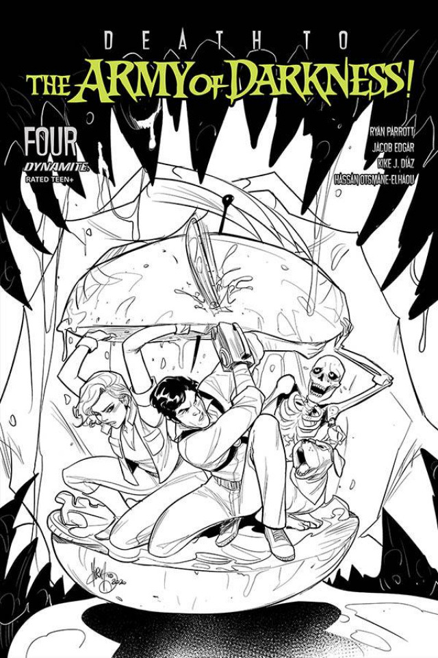 Death to the Army of Darkness #4 (10 Copy Andolfo B&W Cover)