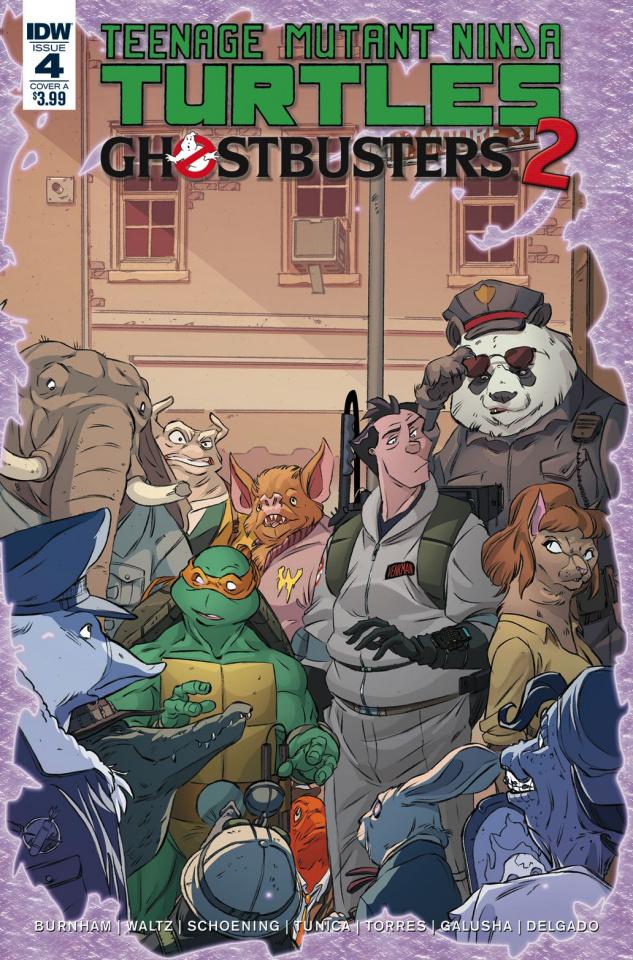 Teenage Mutant Ninja Turtles / Ghostbusters 2 #4 (Schoening Cover)
